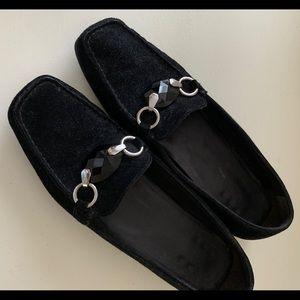 Stuart Weitzman  Black Suede Loafer sz.7